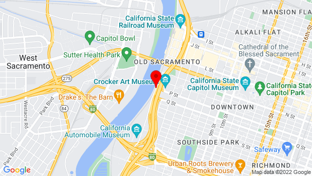 Google Map of Front Street, Sacramento, CA 95814