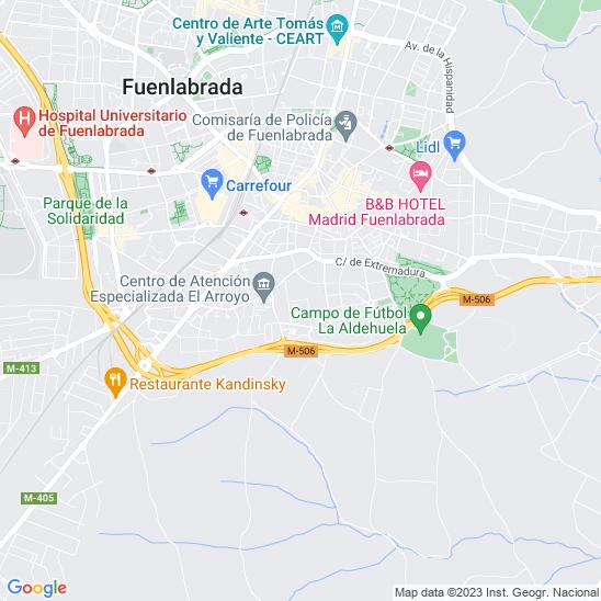Mapa redondo Fuenlabrada