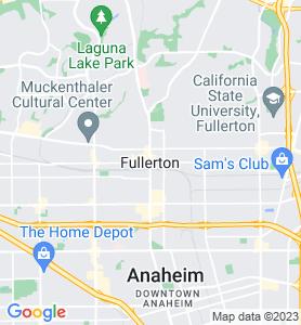 Fullerton CA Map