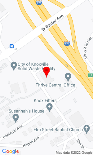 Google Map of Furrow Auction Company 1022 Elm Street, Knoxville, TN, 37921