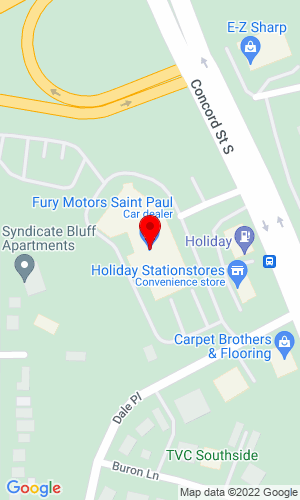 Google Map of Fury Motors 1000 Concord Street South, St Paul, MN, 55075