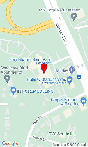 Google Map of Fury Motors 1000 Concord Street South, St Paul, MN, 55075,