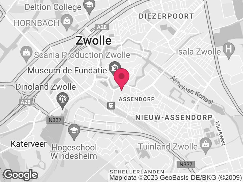Google Map of GGD IJsselland Zeven Alleetjes 1 8011 CV Zwolle