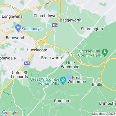 Brockworth and Witcombe Rest Garden Location