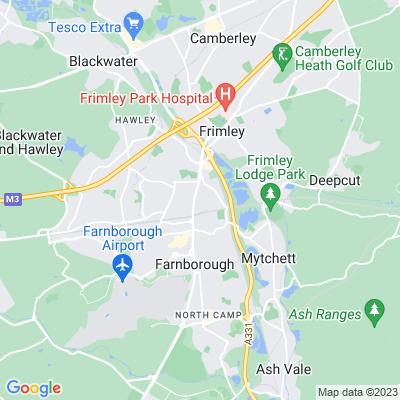 Farnborough Hill Location
