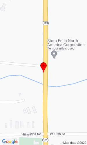 Google Map of Gaastra Welding & Supply Inc. 928 So. M-189, Iron River, MI, 49935