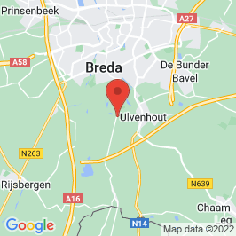 Google map of Sanatoriumgebouw De Klokkenberg, Breda