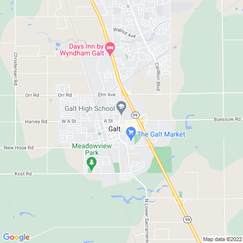 Map of Galt, CA