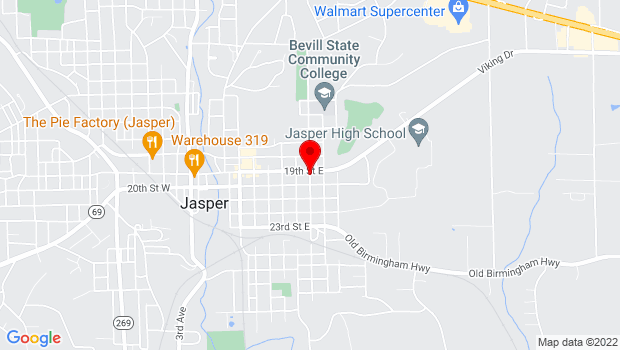 Google Map of Gamble Avenue, Jasper, AL 35501