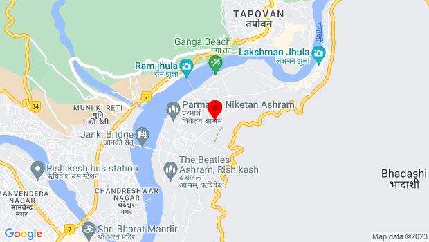 Google Map of Ganga Guest House, Swargashram, Rishikesh, Uttarakhand 249304