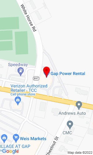 Google Map of Gap Power  5399 East Lincoln Highway , Gap, PA, 17527
