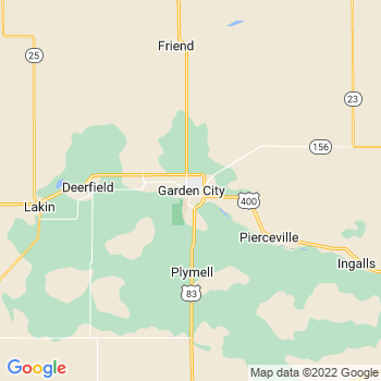Map of Garden City, KS