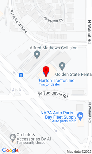 Google Map of Garton Tractor, Inc. 2400 North Golden State Blvd.  , Turlock, CA, 95382