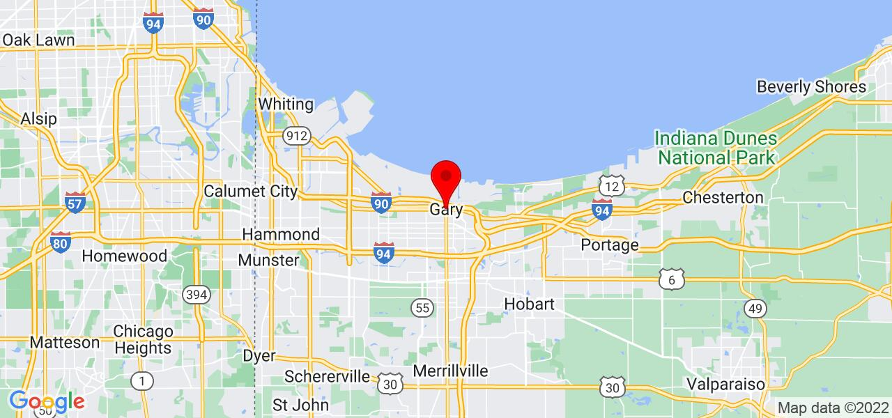 Google Map of Gary,IN