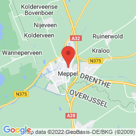 Google map of Gasfabriek, Meppel
