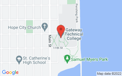 Map of Gateway Technical College - Racine Campus, 1001 South Main Street Racine, WI 53403
