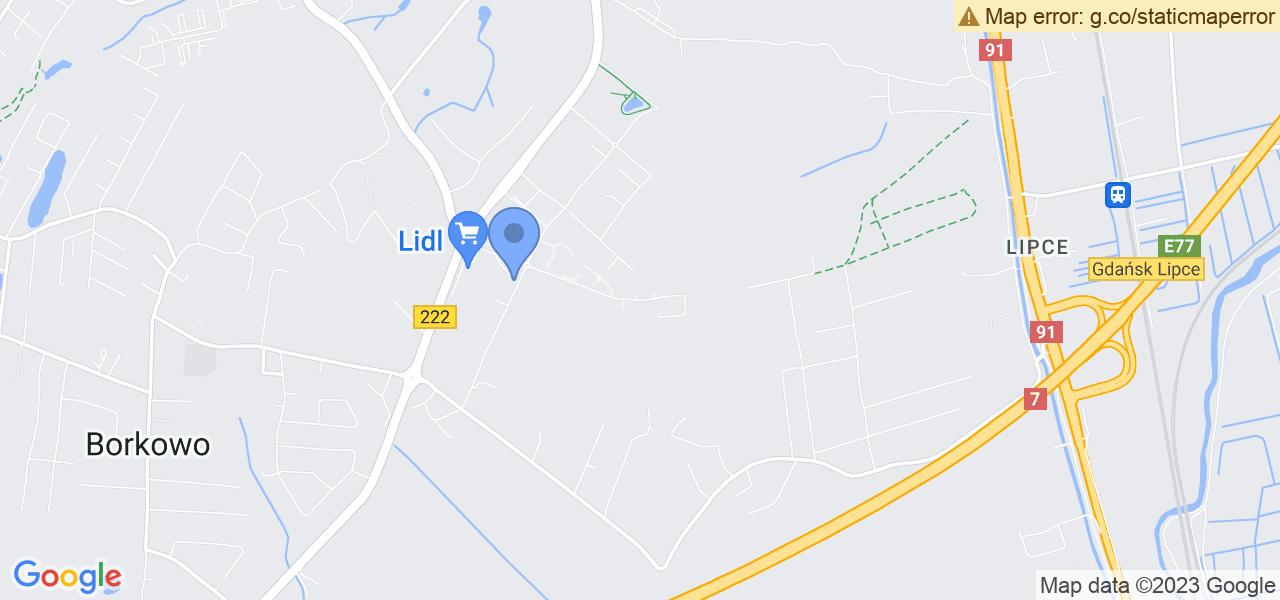 Jedna z ulic w Gdańsku – Czerska i mapa dostępnych punktów wysyłki uszkodzonej turbiny do autoryzowanego serwisu regeneracji
