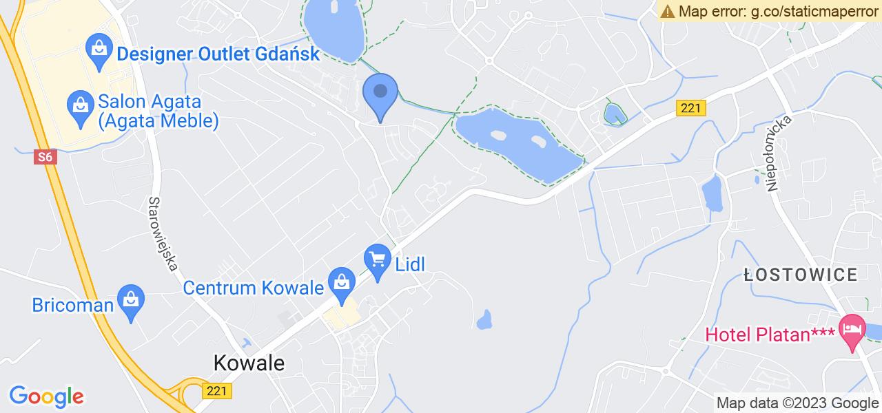 Jedna z ulic w Gdańsku – Jaworzniaków i mapa dostępnych punktów wysyłki uszkodzonej turbiny do autoryzowanego serwisu regeneracji