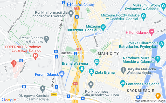 Show map of Gdansk