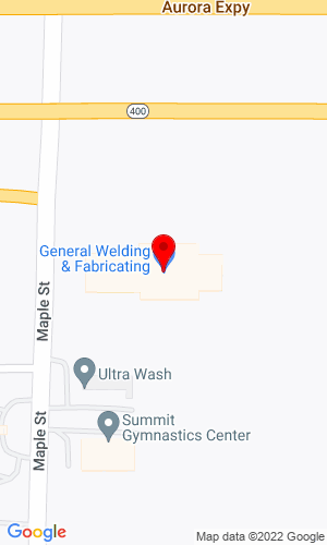 Google Map of General Welding & Fabrication Inc. 991 Maple Road, Elma, NY, 14059