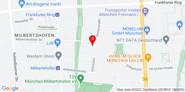Google Map of Generationenzentrum Milbertshofen