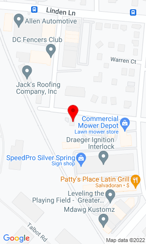 Google Map of George Associates Inc. 2340 Montgomery Street, Silver Spring, MD, 20910