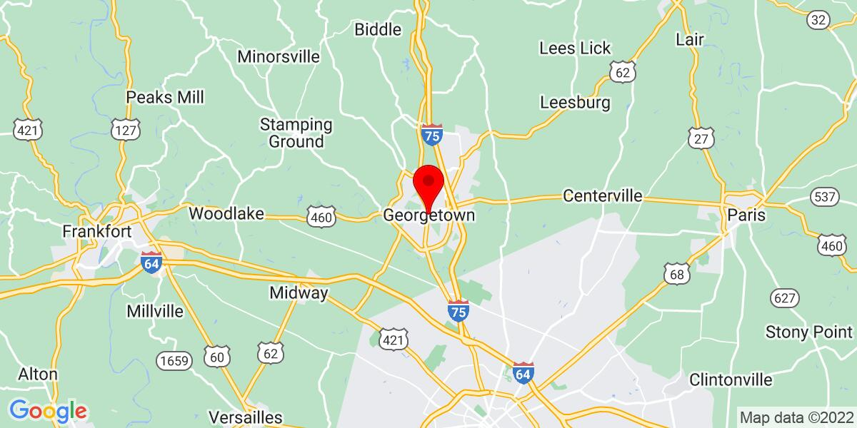 Google Map of Georgetown, Kentucky