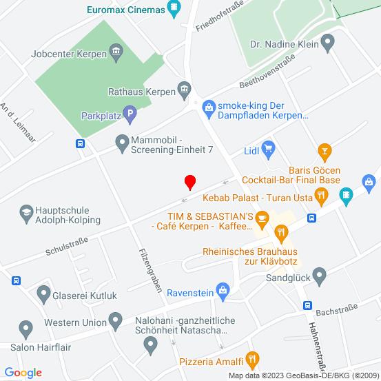 Google Map of Germany Kerpen Schulstrasse 2a
