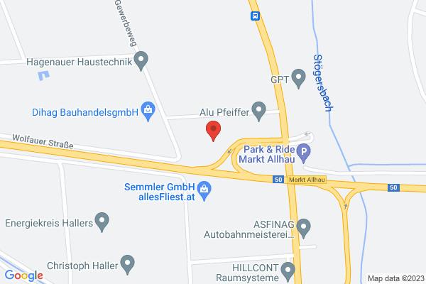 Google Map of Gewerbeweg 7, 7411 Markt Allhau, Österreich