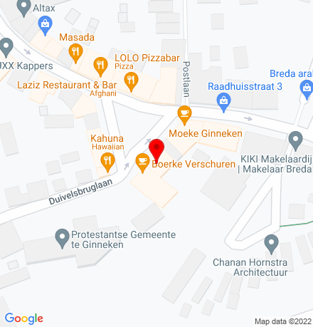 Google Map of Ginnekenmarkt 14 4835 JC Breda
