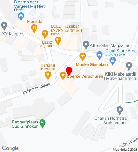 Google Map of Ginnekenmarkt 14 4835 JC Breda