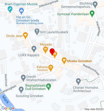 Google Map of Ginnekenmarkt 6 4835 JC Breda