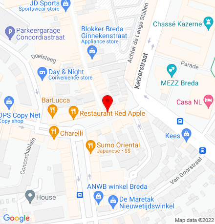 Google Map of Ginnekenstraat 153 4811 JG Breda
