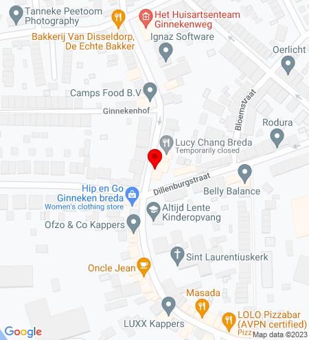 Google Map of Ginnekenweg 315 4835 NC Breda