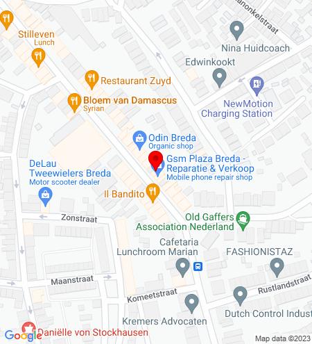 Google Map of Ginnekenweg 75 4818 JB Breda