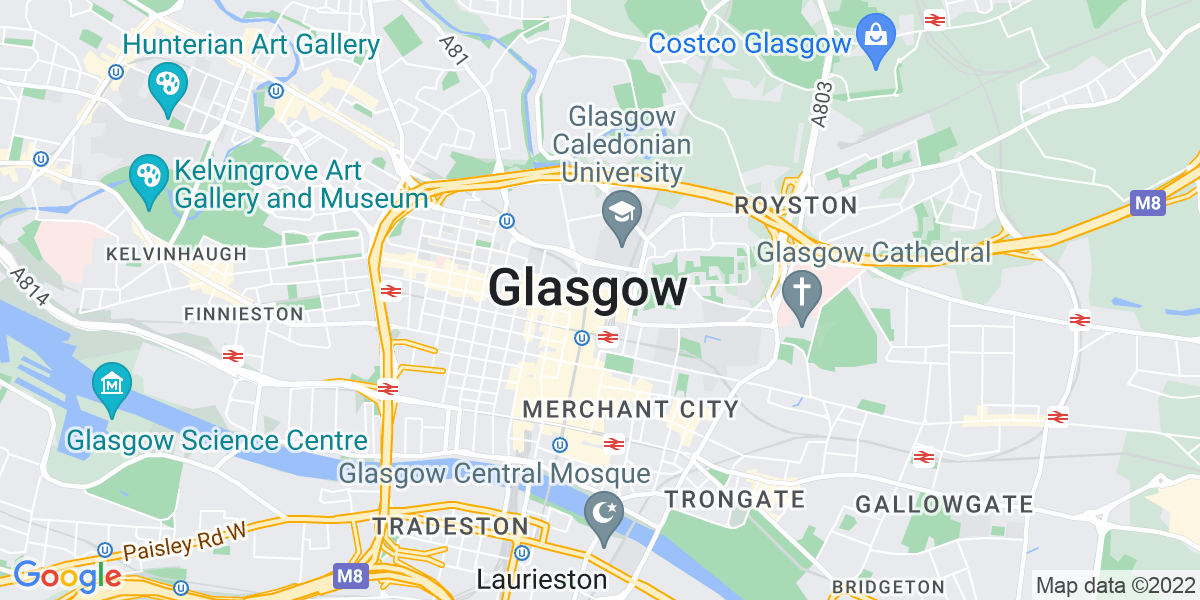 Map: Motor Claims Handler Damage Specialist position in Glasgow