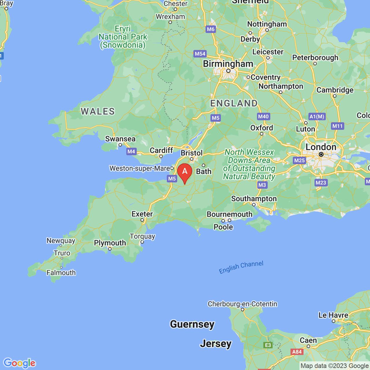 Glastonbury, England Map