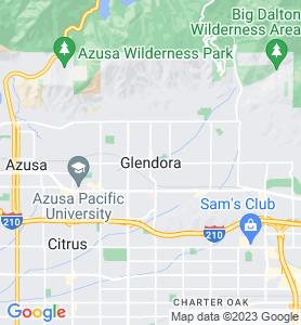 Glendora CA Map