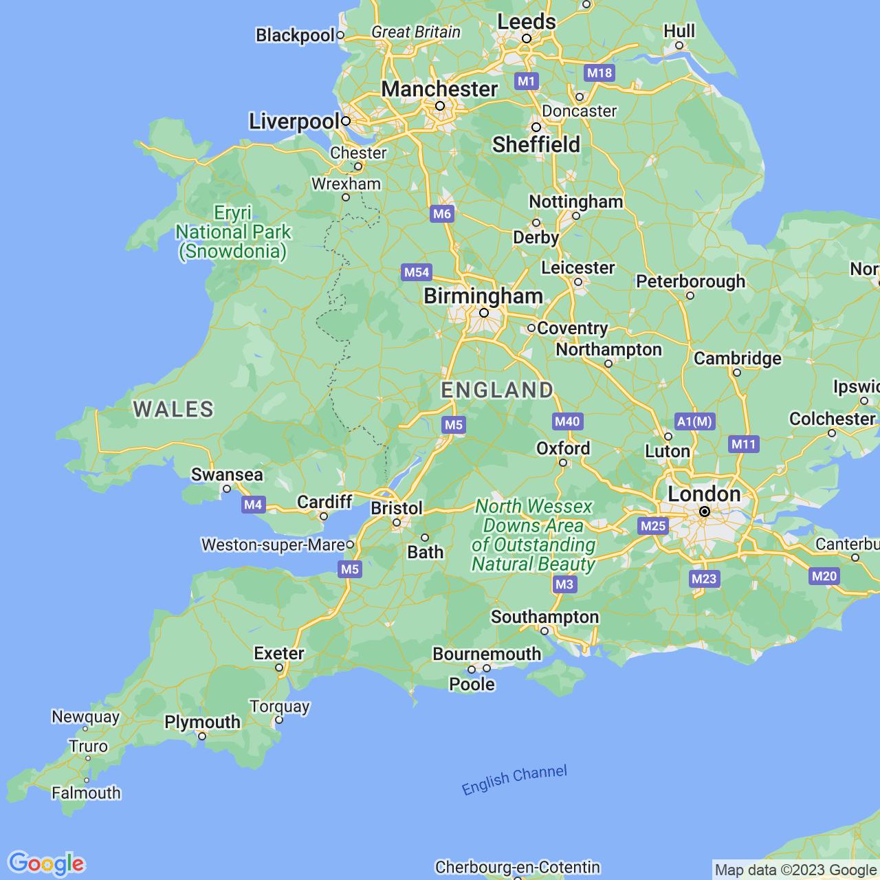 Gloucester, England Map