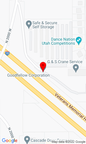 Google Map of Goodfellow Corporation 390 N 2000, Lindon, UT, 84042,