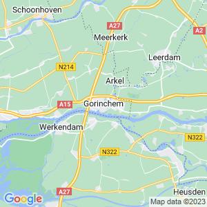Werkgebied van onze bestrijder in Gorinchem