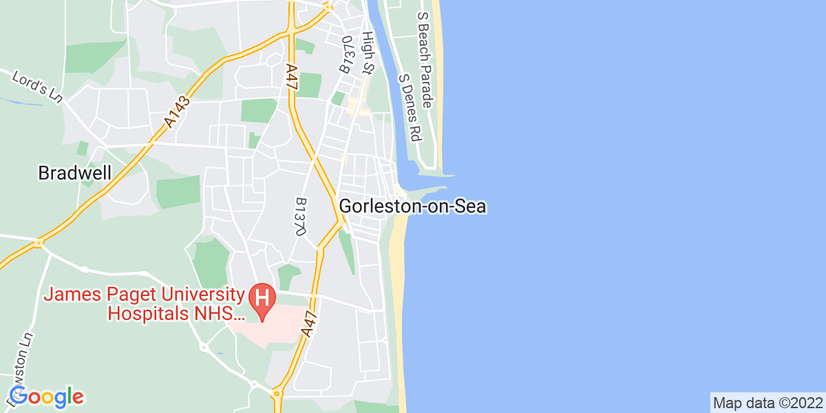 Map: Reception/Front-of-House Manager job role in Gorleston