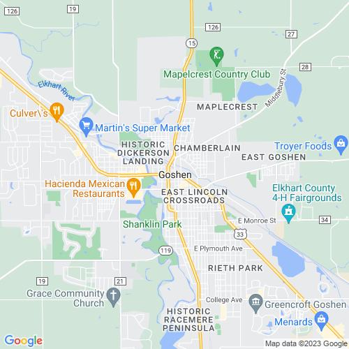 Map of Goshen, IN