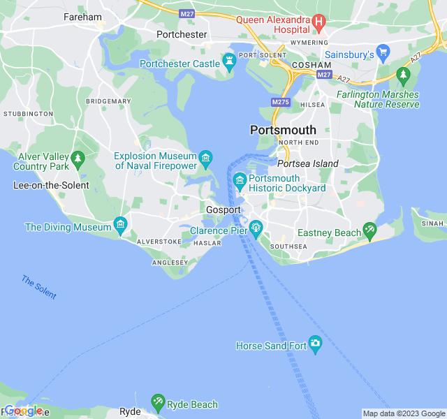 Website Designer Gosport Google map of location