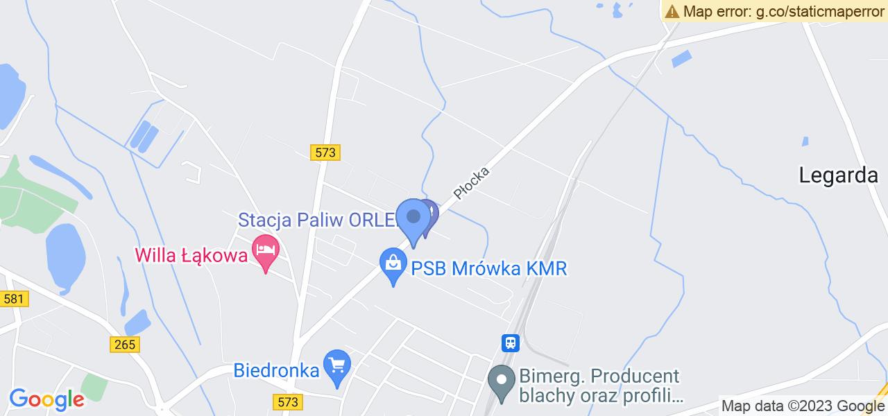 Jedna z ulic w Gostyninie – Płocka i mapa dostępnych punktów wysyłki uszkodzonej turbiny do autoryzowanego serwisu regeneracji