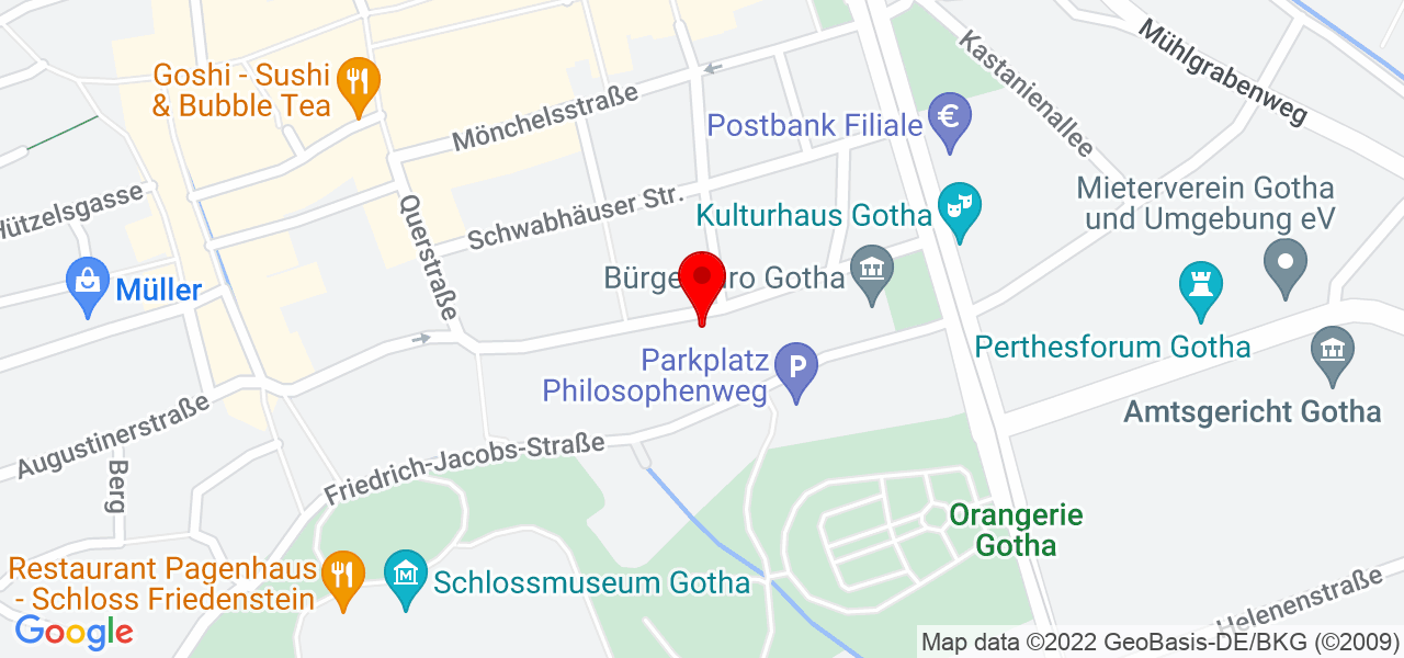 Google Map of Gotha, siebleber Str. 28