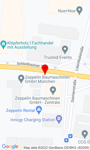 Google Map of Zeppelin Baumaschinen Graf-Zeppelin-Platz 2, Garching Bei, Munich, Germany,