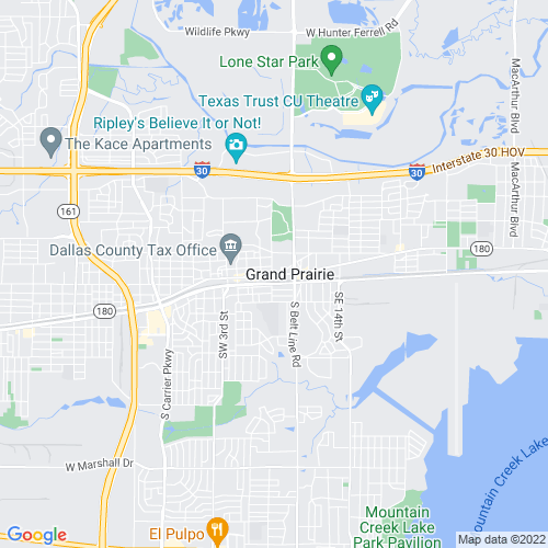 Map of Grand Prairie, TX