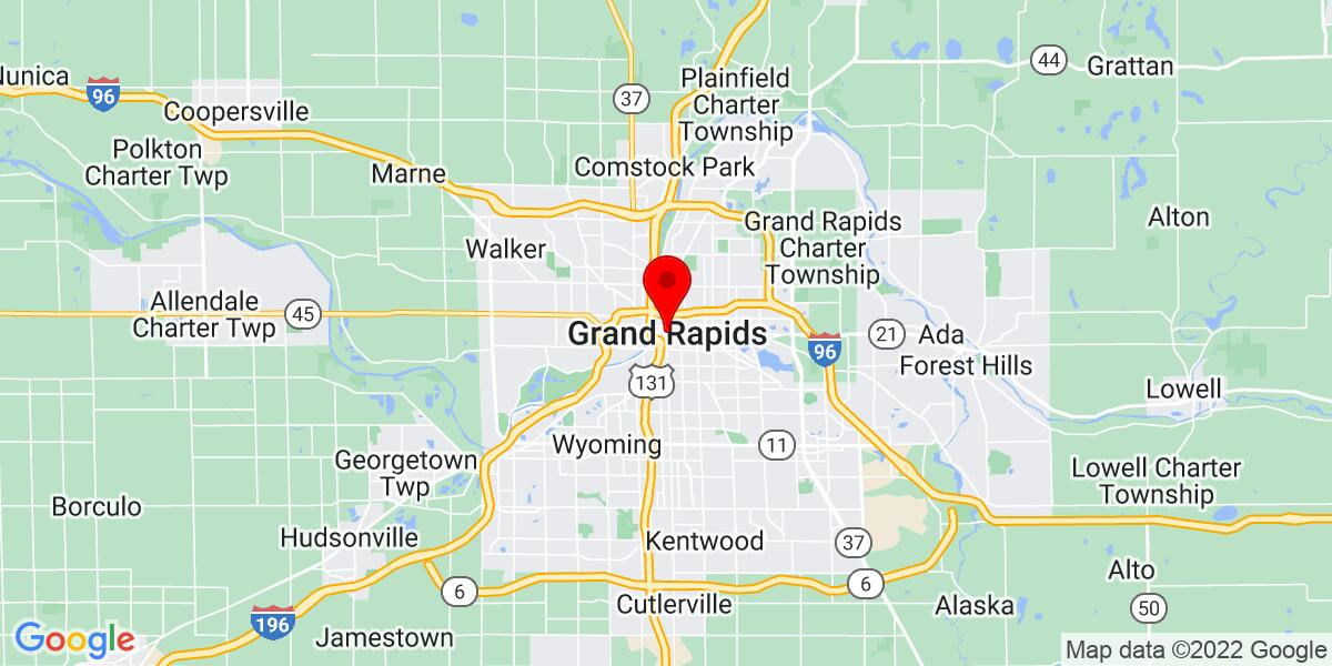 Google Map of Grand Rapids, MI