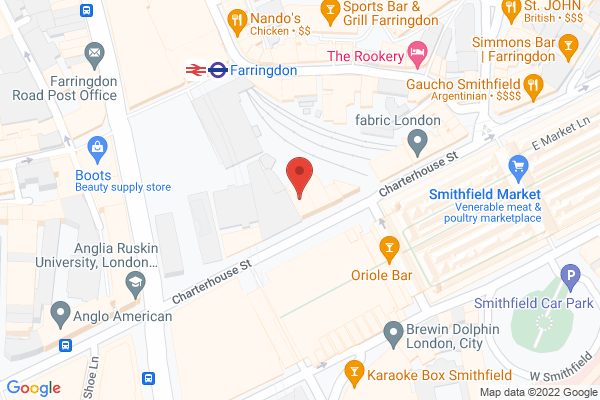 Grand Union Farringdon map